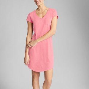 Gap V-Neck Pink Shirt Dress
